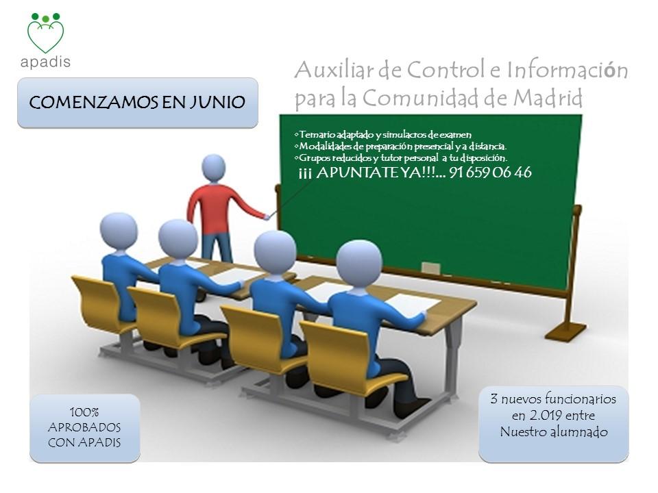 SIL APADIS ORGANIZA  CURSOS PARA PREPARAR OPOSICIONES  DE LA COMUNIDAD DE MADRID