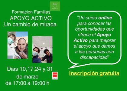 Apoyo Activo: curso gratuito para familiares. ¡Apúntate!
