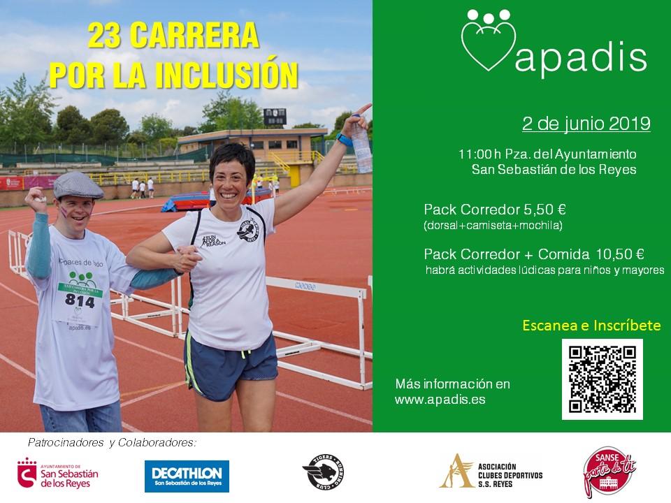 ¿Te unes a la carrera por la inclusión de APADIS? ¡2 de junio!