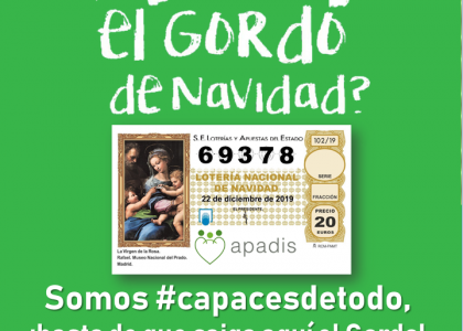 LOTERÍA DE NAVIDAD A BENEFICIO DE APADIS