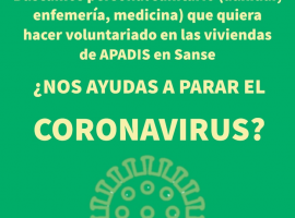 CORONAVIRUS: ¿NOS AYUDAS? BUSCAMOS VOLUNTARIOS/AS DEL SECTOR SANITARIO