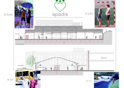 Techado de pistas en APADIS: más equipamiento e inclusión en Sanse