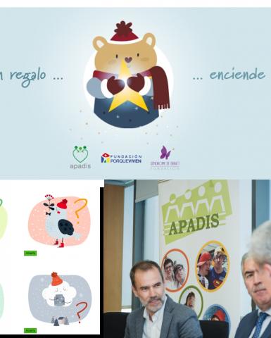 Dona un regalo y enciende una ilusión: campaña de SIGAUS y APADIS