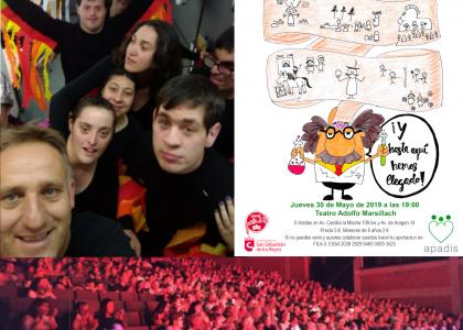Más de 40 actores con discapacidad intelectual muestran su talento en el teatro Adolfo Marsillach