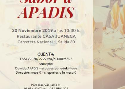 """COMIDA A BENEFICIO DE APADIS, """"SABOR A APADIS"""""""