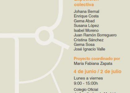 EXPOSICIÓN COLECTIVA EN EL COAM, DEL PROYECTO ESPACIO CORVENGENTE REALIZADO EN APADIS