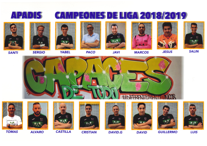 Equipo de F´tubol Sala Campeón de Liga 2018-2019