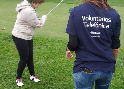 40 VOLUNTARIOS DE LA FUNDACION TELEFONICA, CELEBRAN EL DIA INTERNACIONAL DE VOLUNTARIADO  TELEFONICA CON APADIS