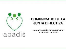 Comunicado de APADIS: CONTAMOS CON SANSE, TRABAJAREMOS POR SANSE