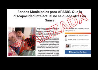 5.000 firmas en favor de fondos municipales en Sanse para la discapacidad. ¡Gracias!