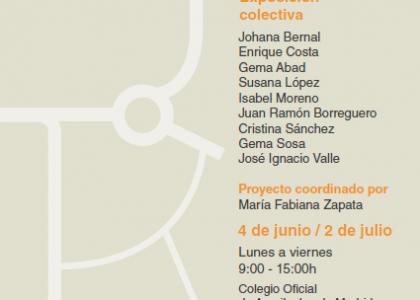 """""""9 Lugares"""" Exposición colectiva en el Colegio Oficial de Arquitectos de Madrid"""