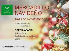 TRADICIONAL MERCADILLO APADIS 28 y 29 DE NOVIEMBRE 2018