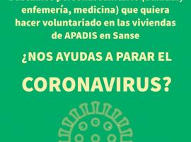 CORONAVIRUS: ¿NOS AYUDAS? BUSCAMOS VOLUNTARIOS/AS DEL SECTOR SANITARIO
