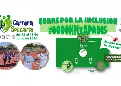 """Lanzamos la Carrera Solidaria """"6.000 Km por APADIS"""""""