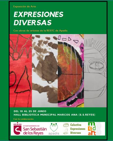"""Artistas de APADIS inauguran """"Expresiones Diversas"""" en la Biblioteca Marcos Ana de Sanse"""